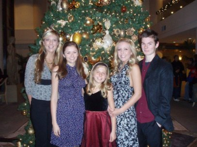 To add to the sense of time folding over on itself, here is our annual family Christmas pic in San Francisco five years ago.