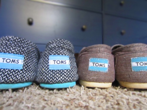 Maybe it's the good karma, maybe it's because they're cute, but days I wear my TOMS are good days.