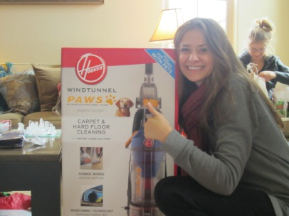 Here is one of the presents I took my time opening... And, yes, I was that excited to get a vacuum cleaner.