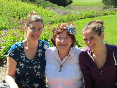 Our grandmother on her 80th birthday last year in Bodega Bay. I'm proud to say I made the birthday crown!
