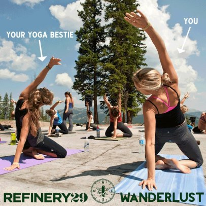 My current obsession-- whether or not to volunteer to work at Wanderlust this summer for a free pass... Any yoga besties want in?