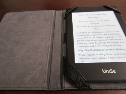 Part of my late embrace of the self-publishing model is also learning to experiment with e-readers. So far, the borrowed kindle kicks the iPad's butt and I'm coming around to the idea of reading my own words on one of these screens.