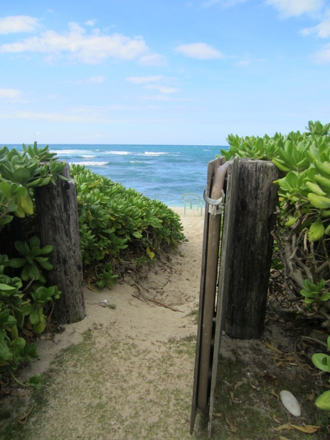 Our private entrance to the beach.