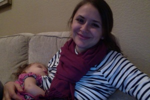 Still here! Just a little preoccupied with the creature in my arms.